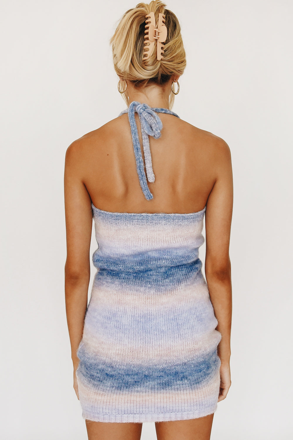 Summer Road Trips Knit Mini Dress // Sky