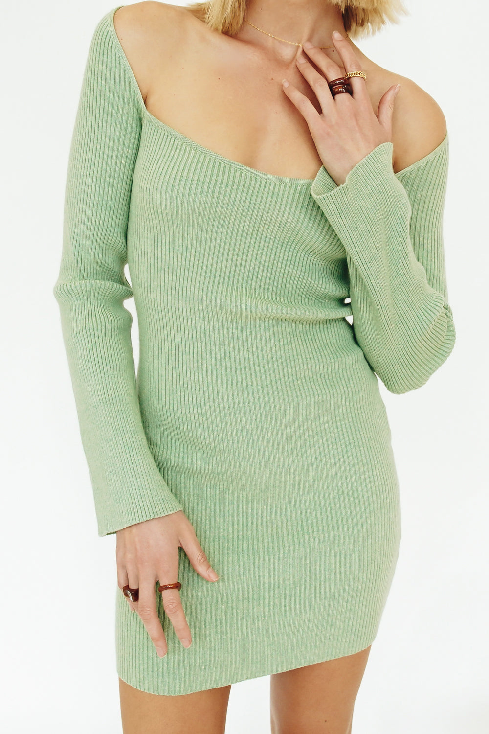 Amy Button Front Knit Top // Sand