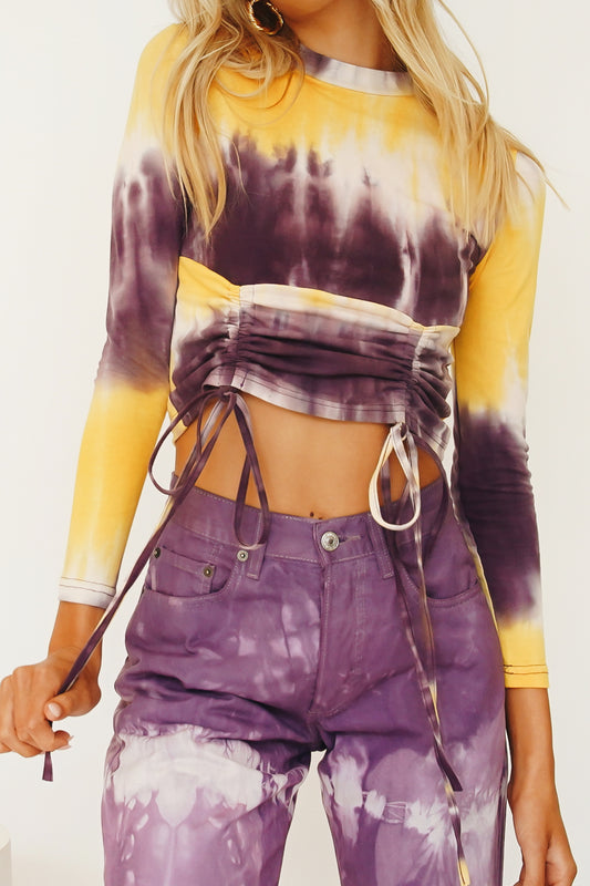 A New Direction Drawstring Top // Tie Dye