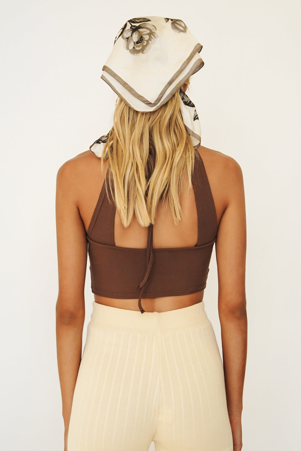 In The Bag Ribbed Halter Top // Chocolate