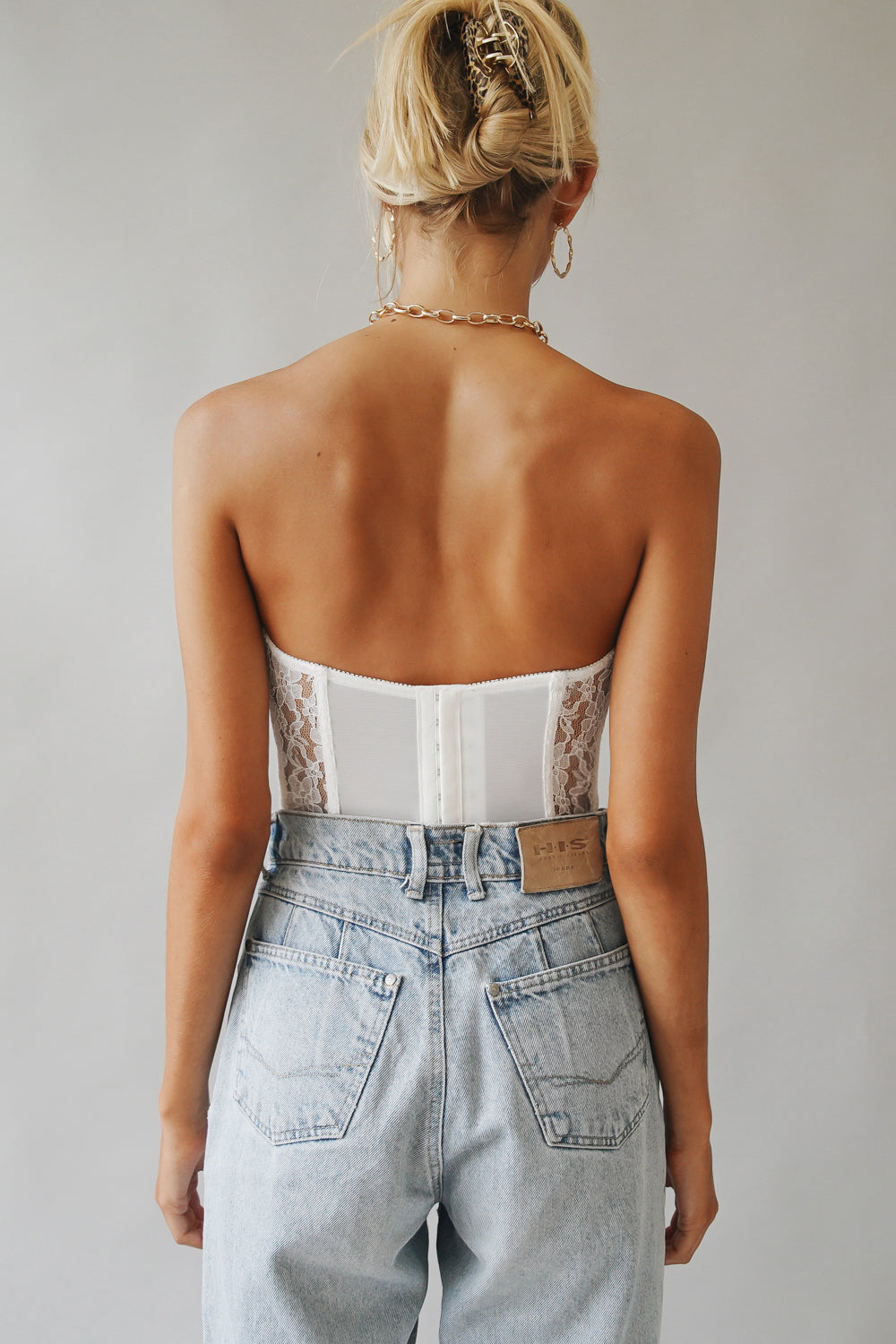 Beauty Moment Lace Bustier // White