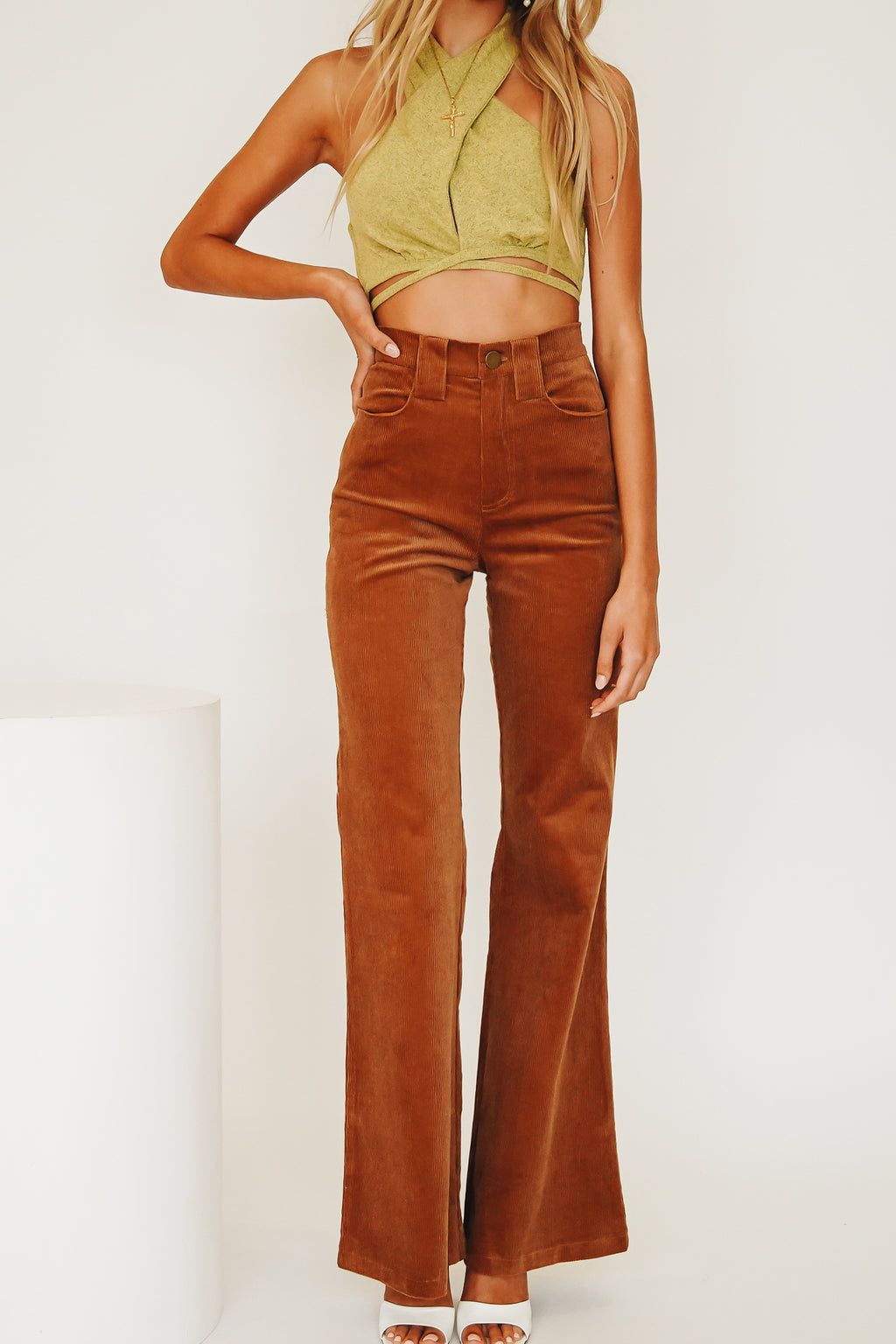 VRG GRL Face Of Being Cord Pants // Tan