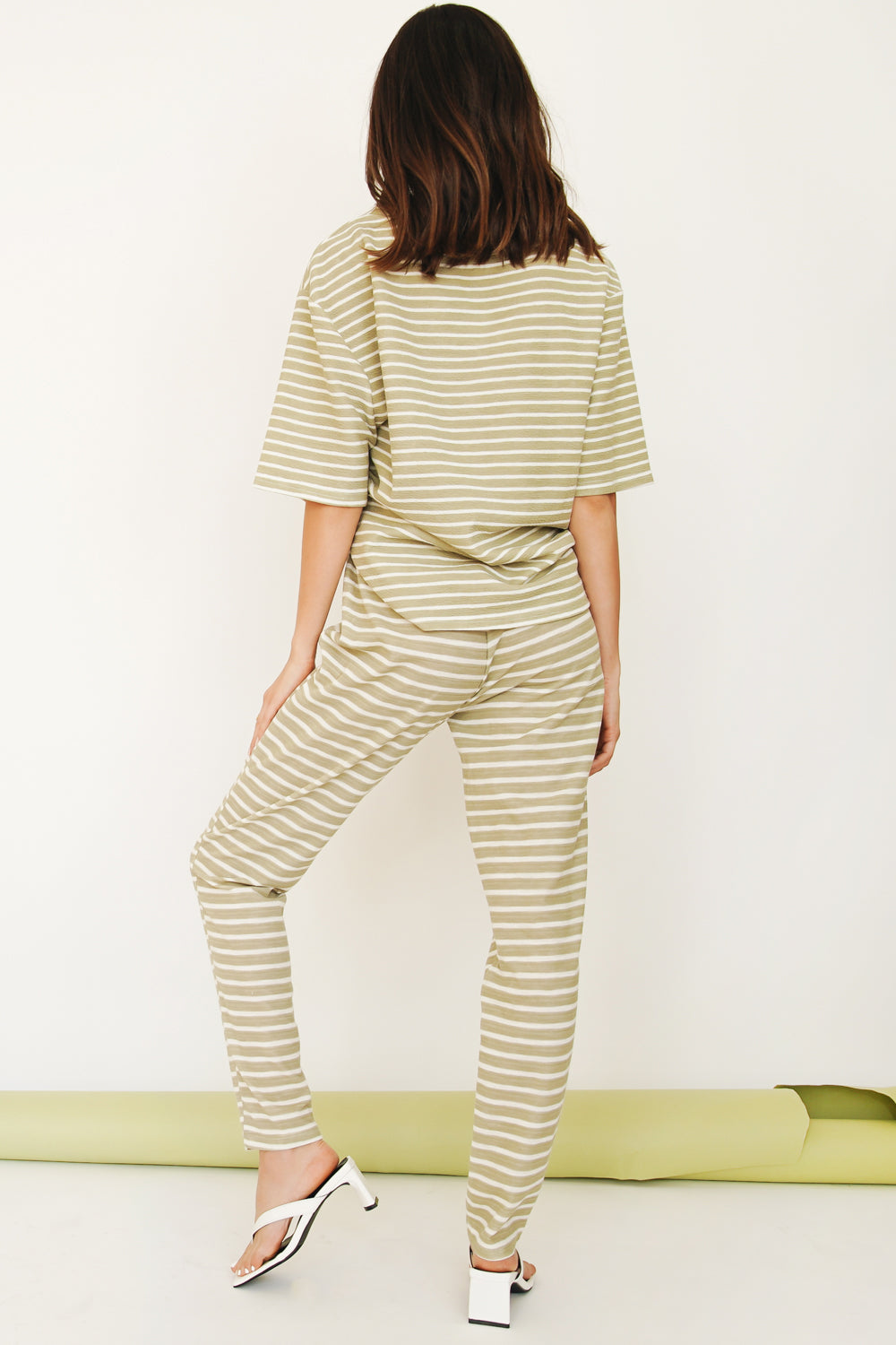 The Edit Stripe Pants // Sage