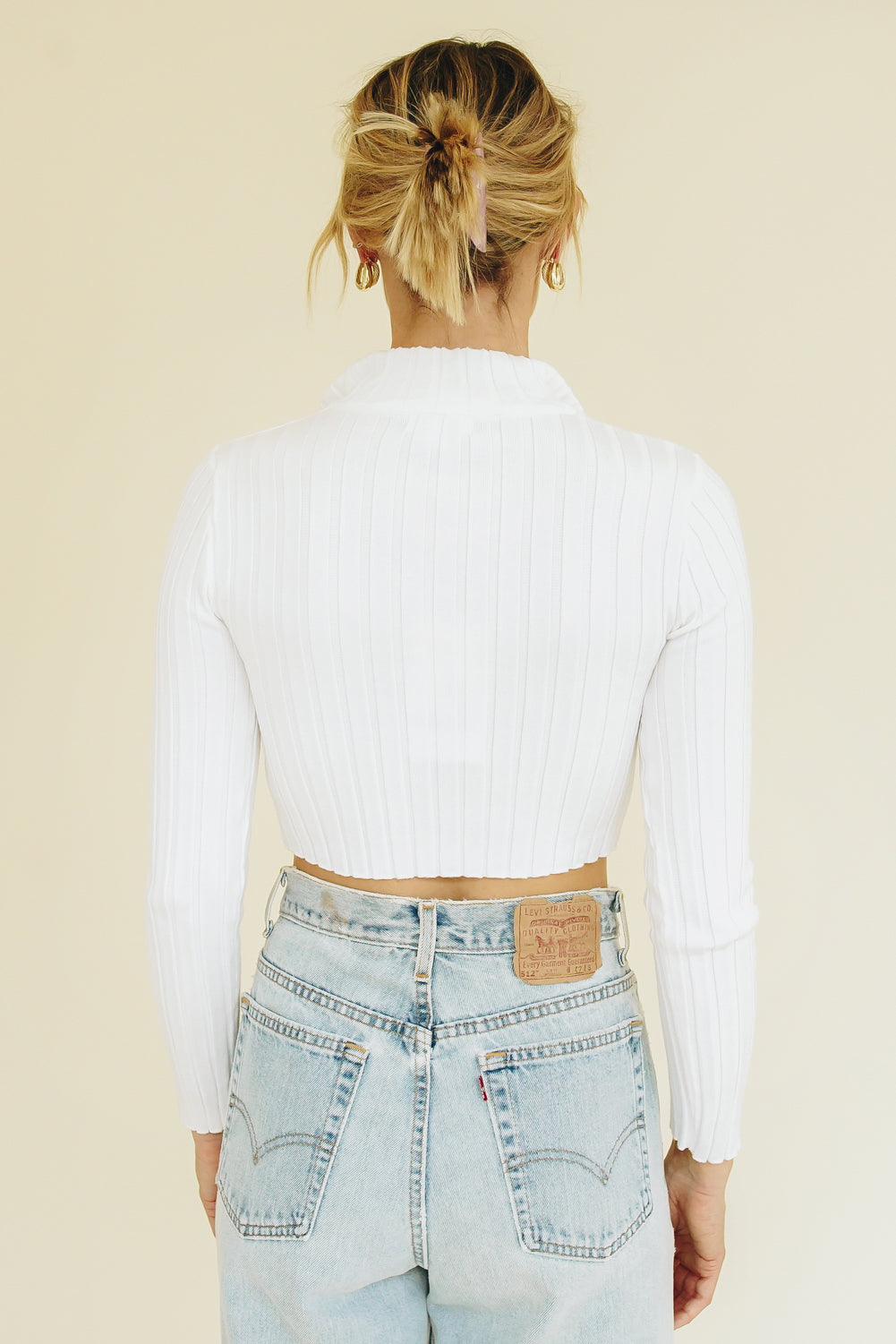 Hit The Runway Button Front Top // Natural
