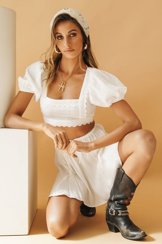 VG Set For Summer Ruched Pants // Lime