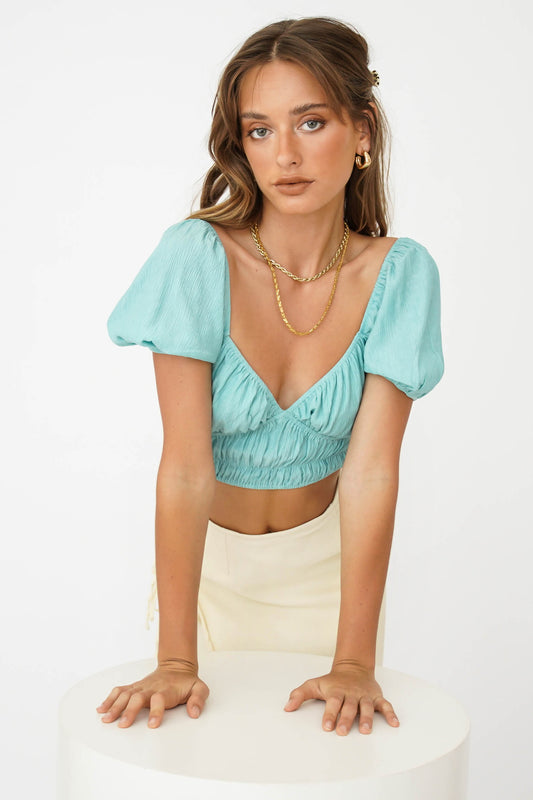 Fashion Moment Ribbed Top // Sage