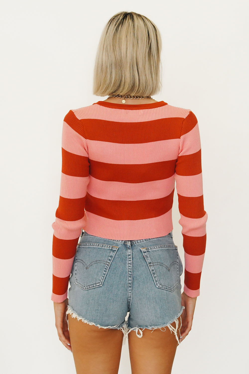 L.A Apartment Ribbed Knit Top // White