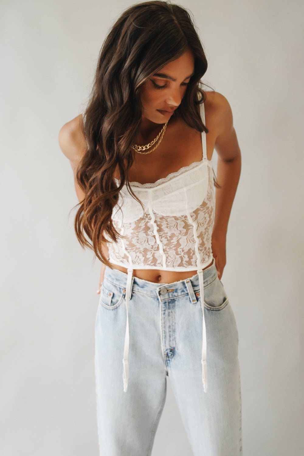 Be Cool Lace Top // White