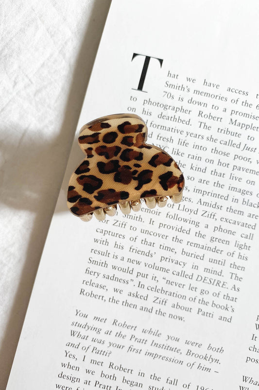 In My Eyes Hair Clip // Leopard