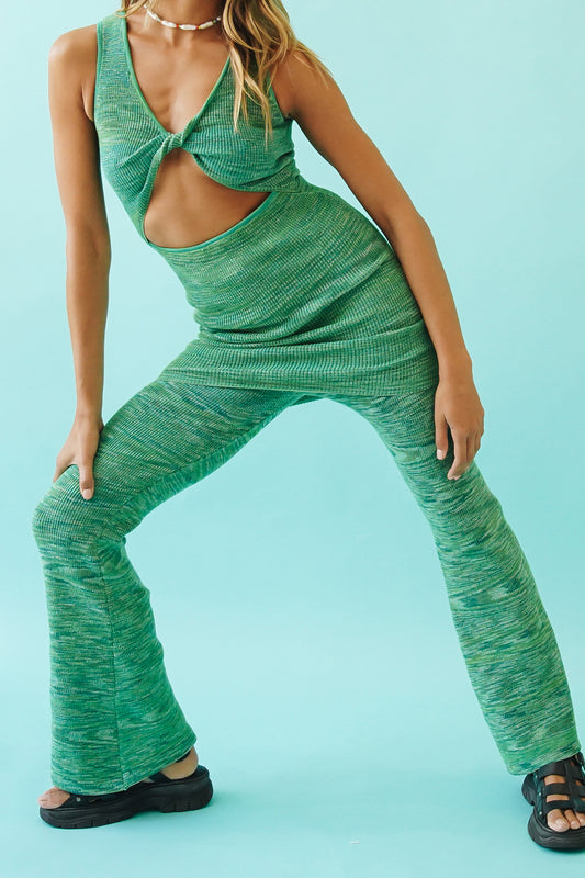 Beach House Knit Pants // Green