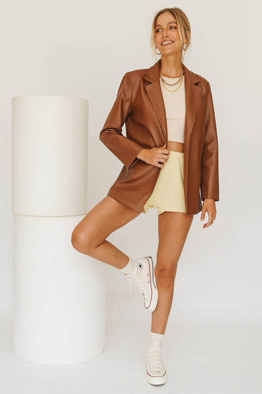 VRG GRL Fashion Status 90's Jacket // Tan