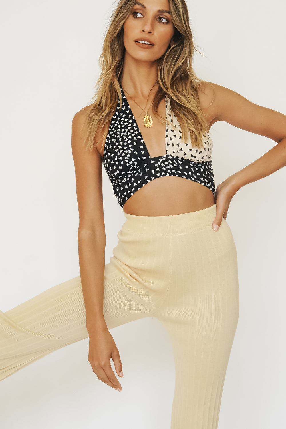 Everybody Dance Butterfly Halter Top // Black