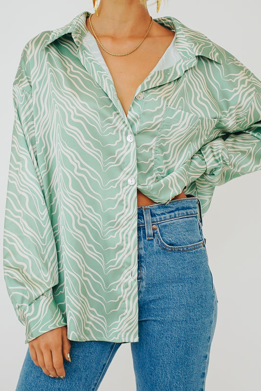 French Beach Hair Clip // Mint