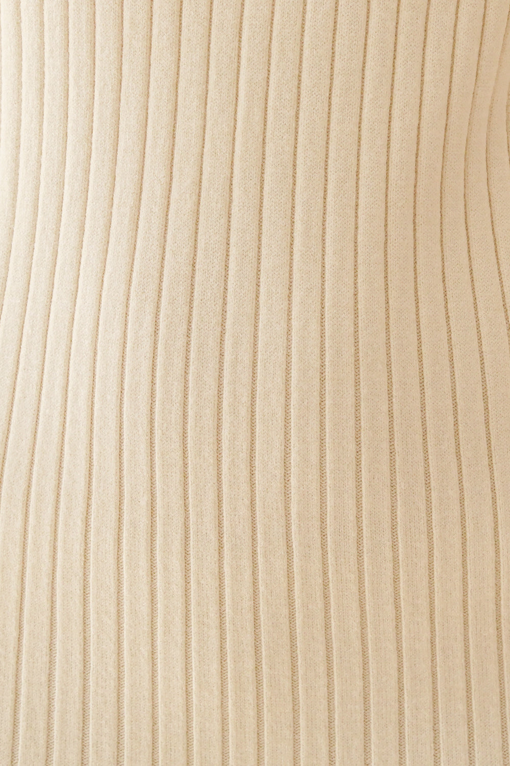 Revolution Ribbed Knit Midi Dress // Cream