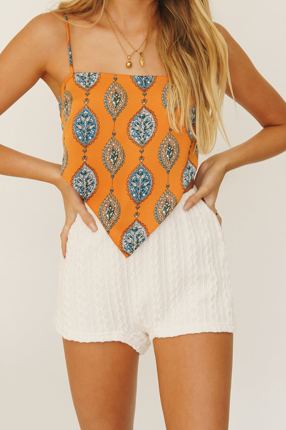 New Creative Tie Back Top // Orange