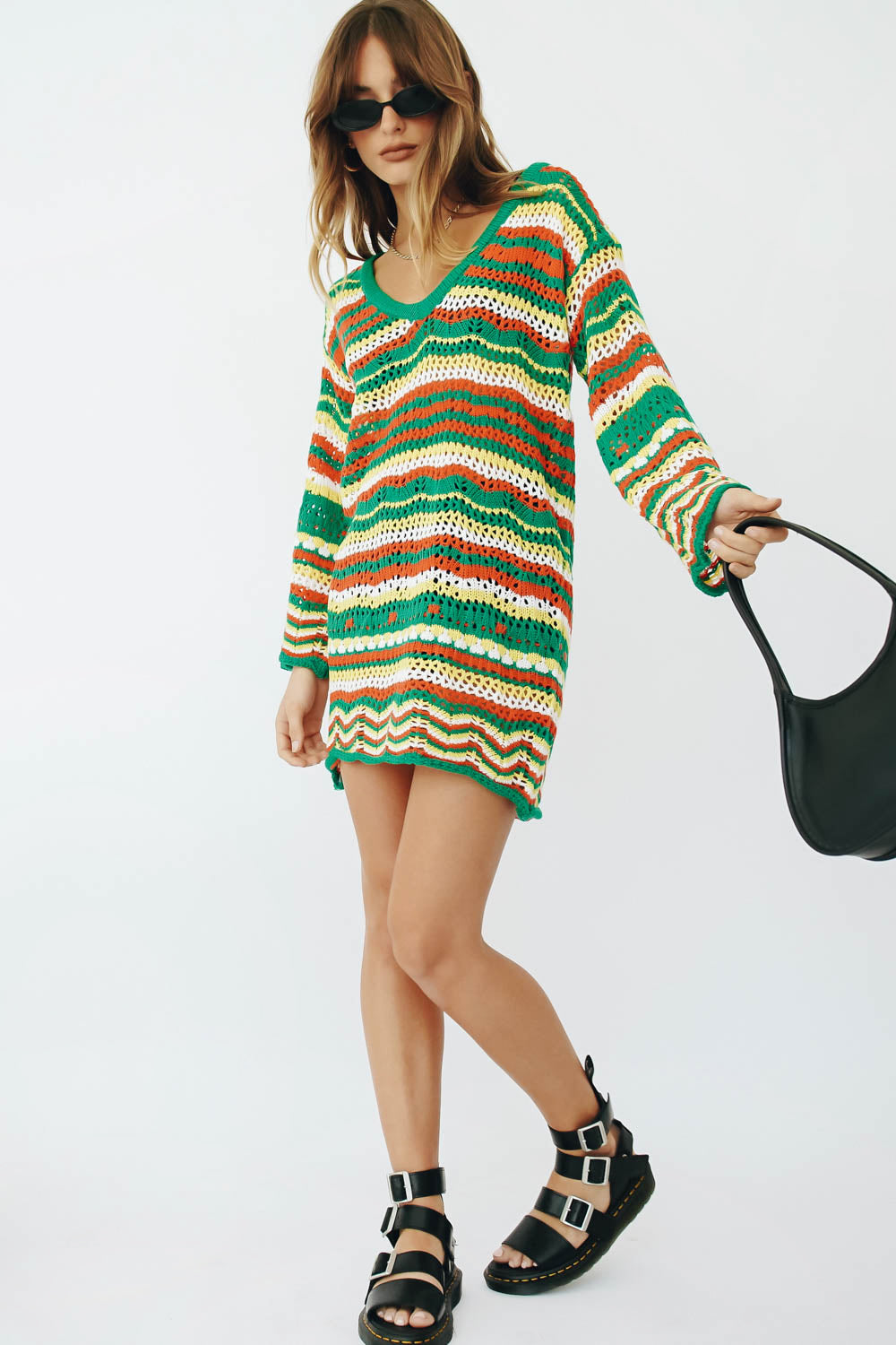 Destination Unknown Button Front Knit Top // Natural