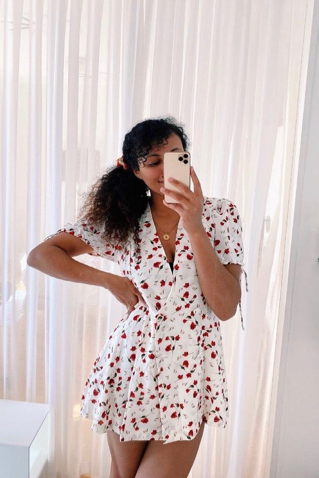 VRG GRL Romantics Mini Dress // Floral