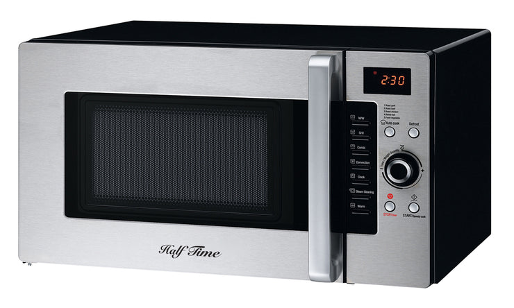 Half Time Convection Microwave Oven, 1.2 cu.ft. Countertop Stainless Steel/Black (MC-300-CTS/B)
