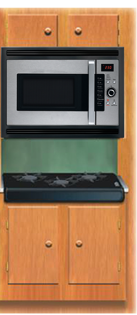 "Master Chef, 24""in. Over the Range Convection Microwave Oven w/o metal cabinet (MC-300-OTRS/B)"