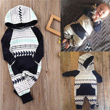 Baby Boy Arrow Hooded Romper