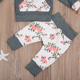 Floral Gray Hoodie Outfit