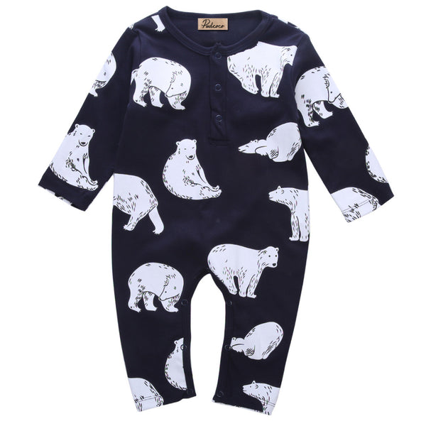 Baby Boy Polar Bear Romper