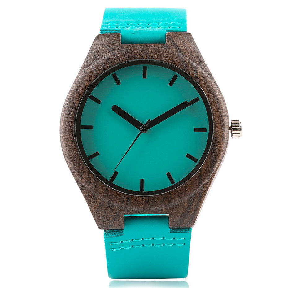 rosewood wood gampen sandalwood watch red headpeace and leather in friendly eco products woodwatch black watches with the