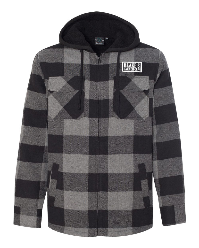 Blake's Hard Cider Quilted Flannel Full-Zip Hooded Jacket