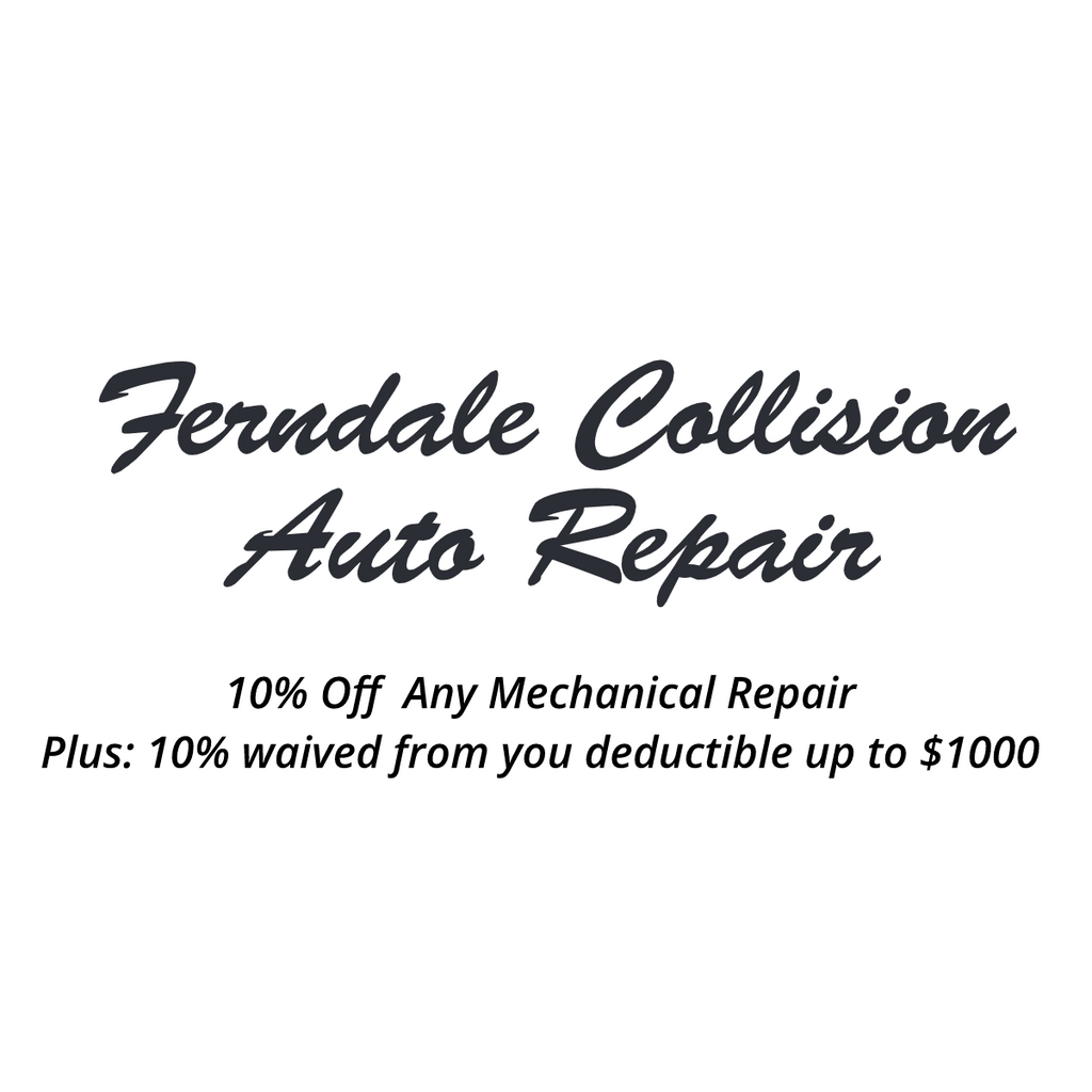 Ferndale Collision Discount Card