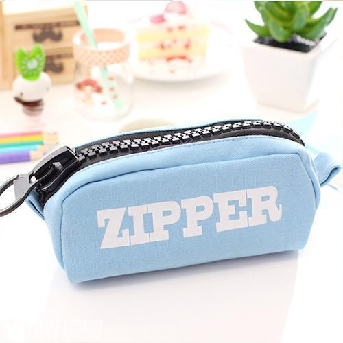 Trousse Design Zipper Solide Quatre Couleurs Blue Divers Fourniture