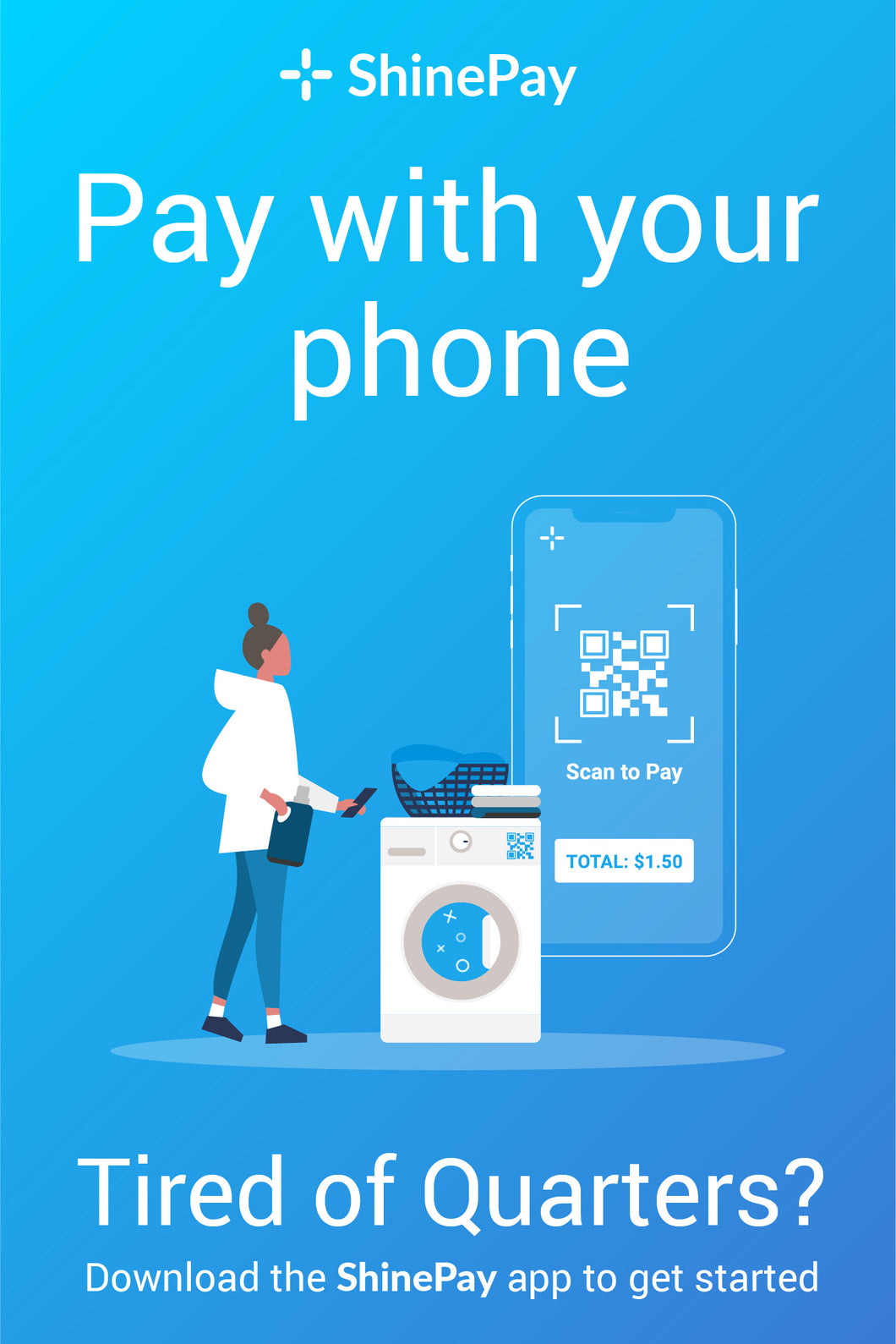 20x30 Pay With Your Phone Sign