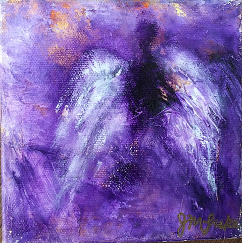 "Abstract Angel ~ 5"" x 5"""