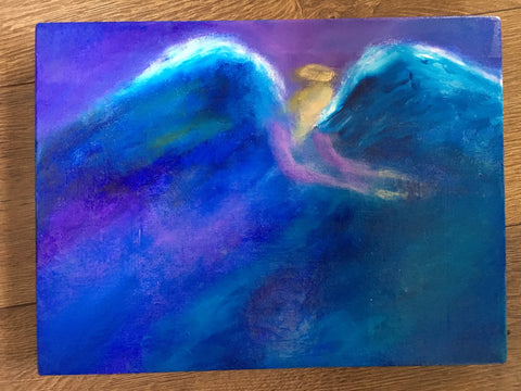 Bringing Love- Original angel painting