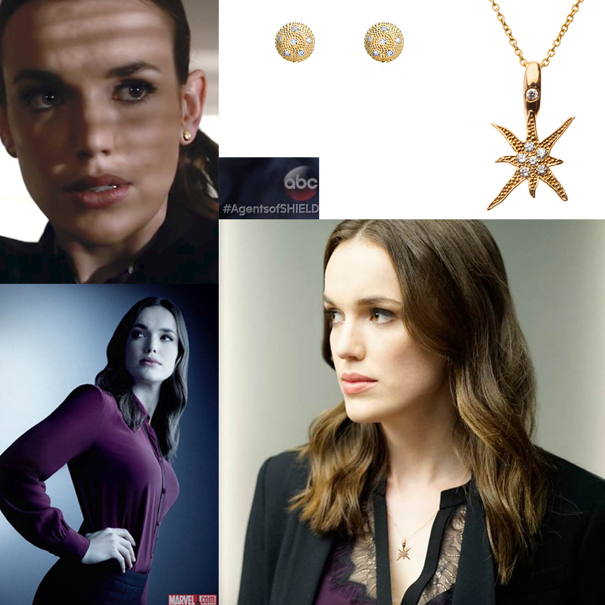 Actor Elizabeth Henstridge has a Stunt Double, AND a Stud Double Designed by Katrina Kelly Jewelry