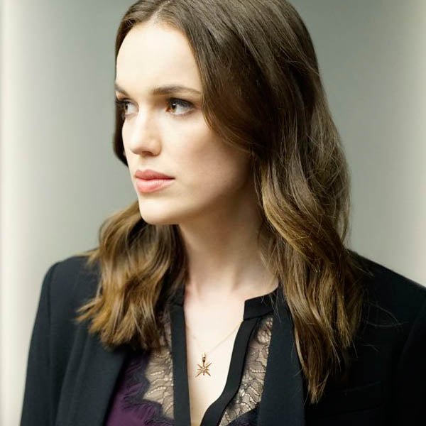 Agent Jemma Simmons played by actress Elizabeth Henstridge from the television series MARVEL Agents of S.H.I.E.L.D. wears Katrina Kelly Jewelry