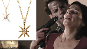 Neve Campbell's Strong Character Wears Star Jewelry Design by Katrina Kelly throughout the movie 'Skyscraper'