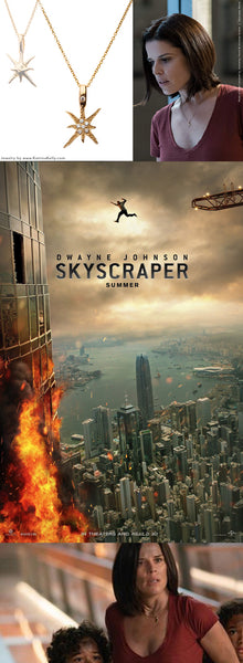 "The new summer blockbuster Skyscraper starring Dwayne ""The Rock"" Johnson and Neve Campbell has arrived in theaters!"