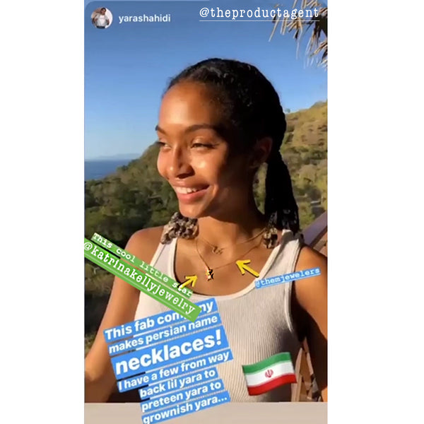 Yara Shahidi Style Jewelry Fashion Necklace