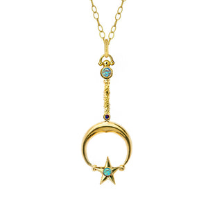 Classic Gold Moon and Star Wand