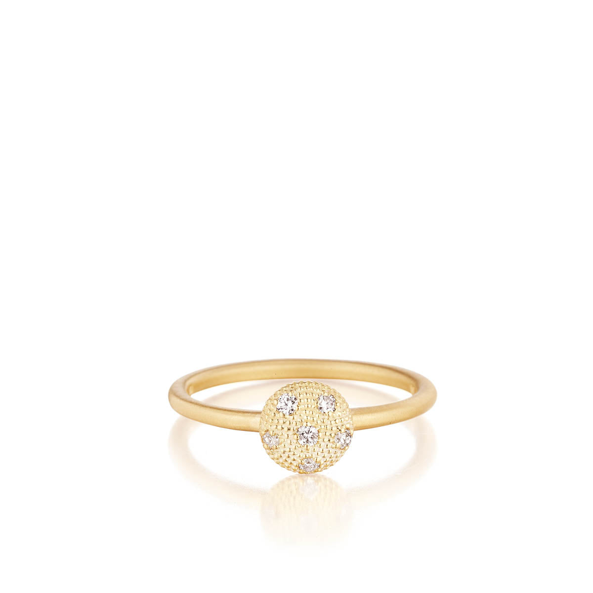 Gold Circle Dome Stack Ring