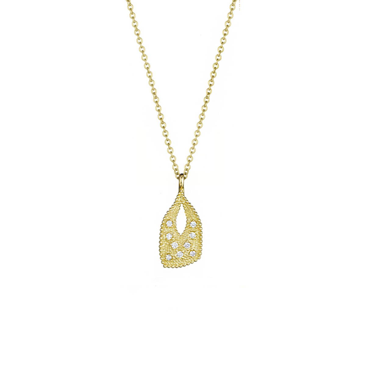 Petite Gold Charm, Nouveau Diamond and Gold Charm