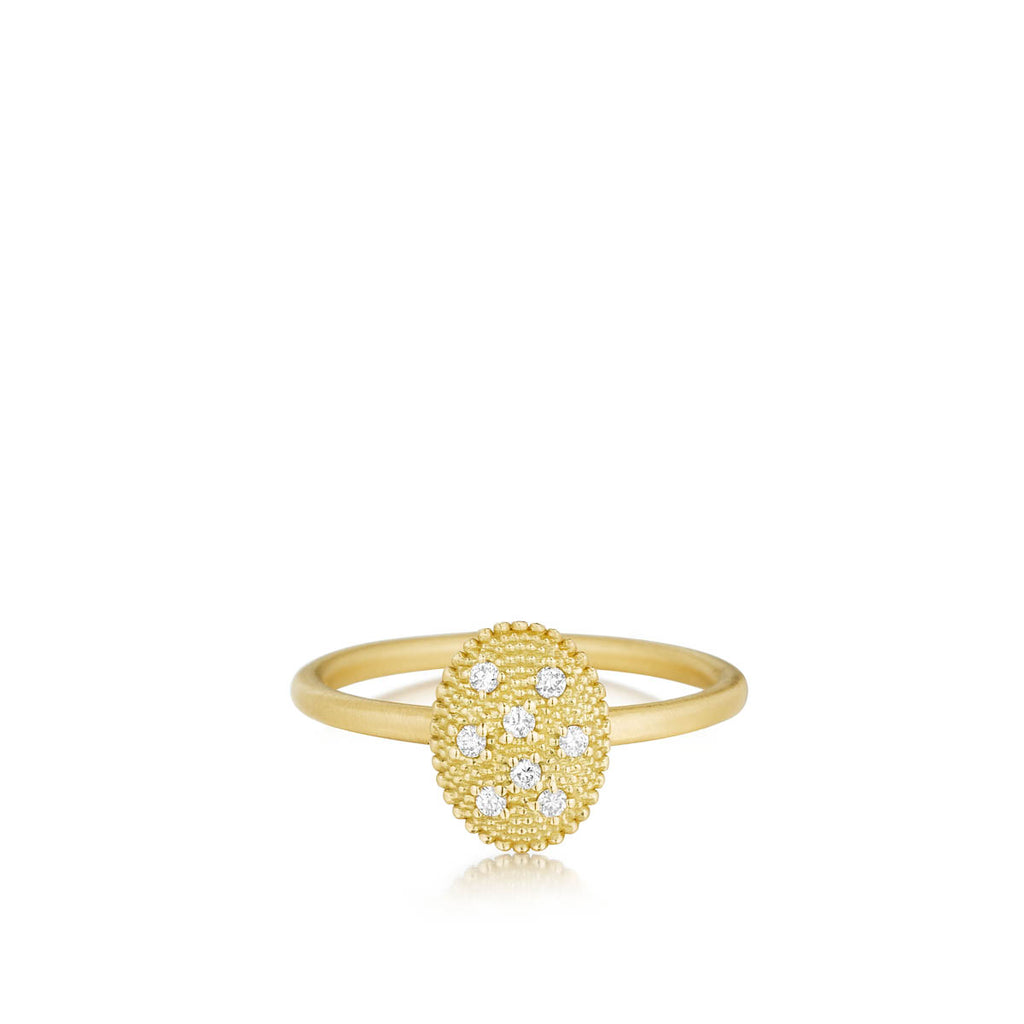 Yellow Gold Oval Stack Ring