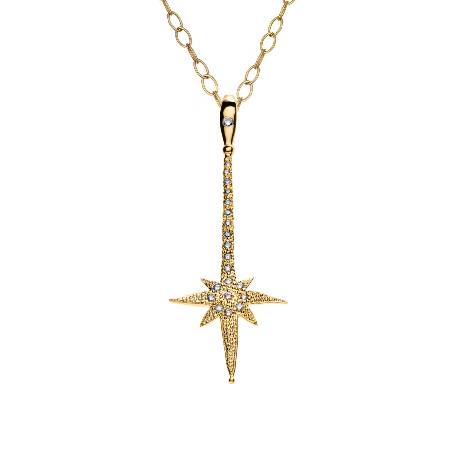 Diamond SHOOTING STAR Wish Wand Charm