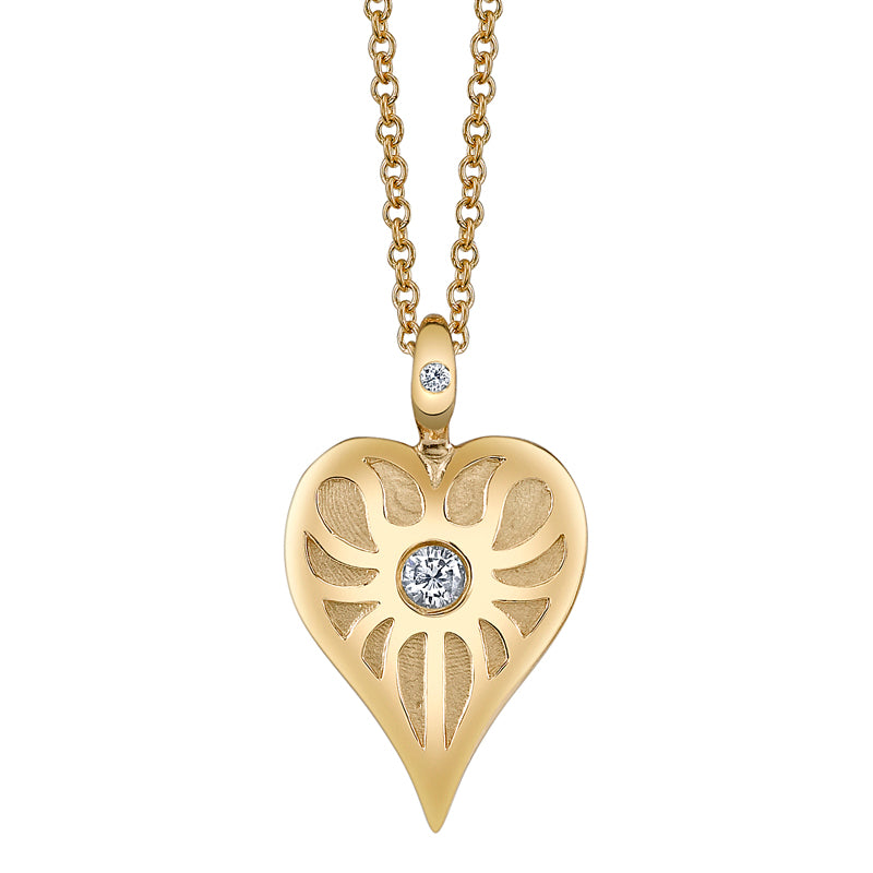 Gold Love Heart Charm