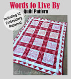 Words to Live By Digital Quilt Pattern