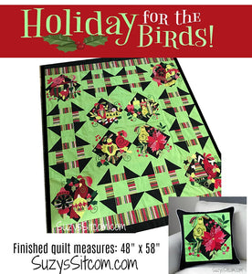 Holiday for the Birds Hard Copy Quilt Pattern