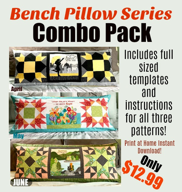 Bench Pillow Series- Combo Pack- Apr, May, Jun