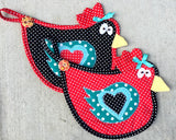 Dizzy Chicks Hot Pad Pattern