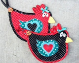 Dizzy Chicks Hot Pad Digital Pattern