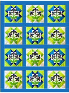 Daisy Blue Quilt Pattern (Print at Home)